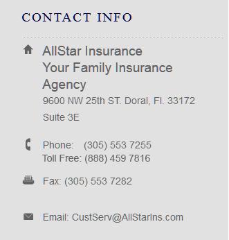 AllStar Insurance Contact